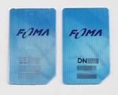 日本ジェムプラスと大日本印刷のFOMAカードの裏