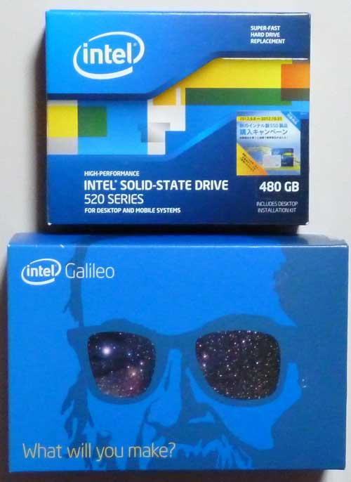 Galileo外箱とSSD外箱