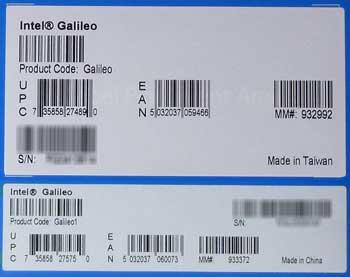 Galileoの2つのバージョンのラベルを比較