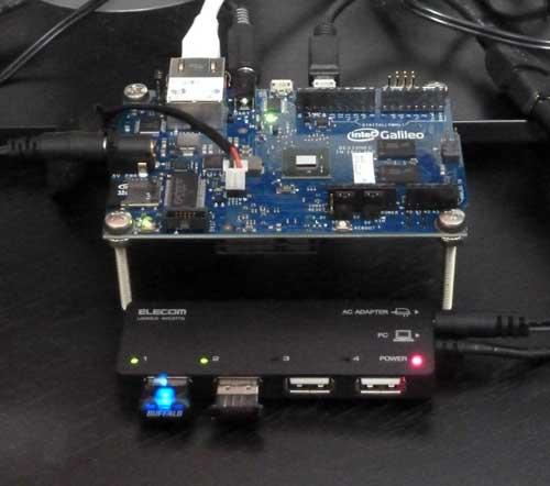 無線LAN(Wi-Fi)とBluetoothをUSBハブ経由でインテル Galileo 開発ボードに接続