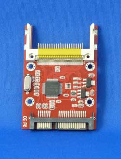 Compact FlashをSerial ATA接続にするアダプター