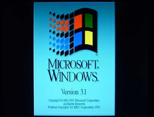 NEC PC-98版 Windows 3.1J 起動表示