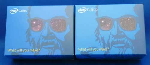 Intel Galileo Gen 2とGen 1の箱の比較