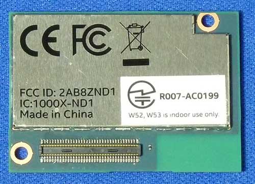 Intel Edison Moduleに張られた技適マークのシール