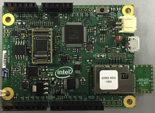 Intel Quark Microcontoroller D1000 Customer Reference Board(CRBの写真