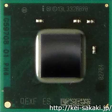 Intel Quark SoC X1000 エンジニアリング・サンプルの写真