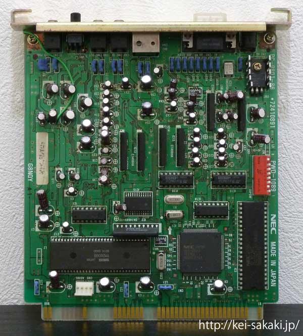 電解コンデンサーを新たに取り付けたPC-9801-86ボード