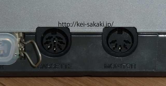 YAMAHA YIS 503のモニター用コネクター